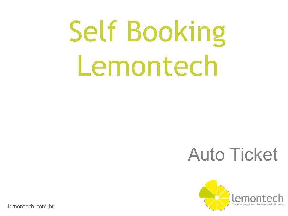 lemontech.com.br Auto Ticket Self Booking Lemontech