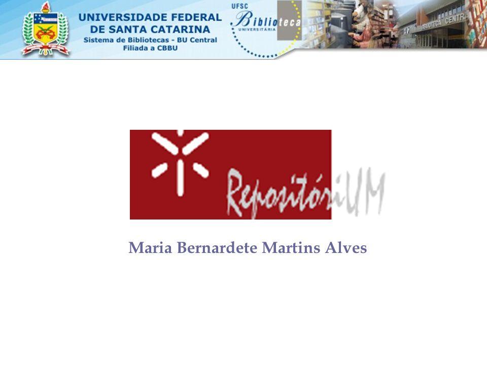 A Universidade do Minho situada na região do Minho, Portugal, foi fundada em 1973: –15820 estudantes –2921 alunos de pós-graduação –1087 professores –606 Técnicos administrativos –11 faculdades –30 centros de pesquisa dos quais 26 já estão no repositório