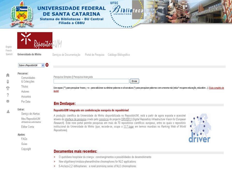 IMPLEMENTAÇÕES AO DSPACE Estatística – gera relatórios sobre acessos e downloads Solicitação de cópias de documentos com restrição de acesso.