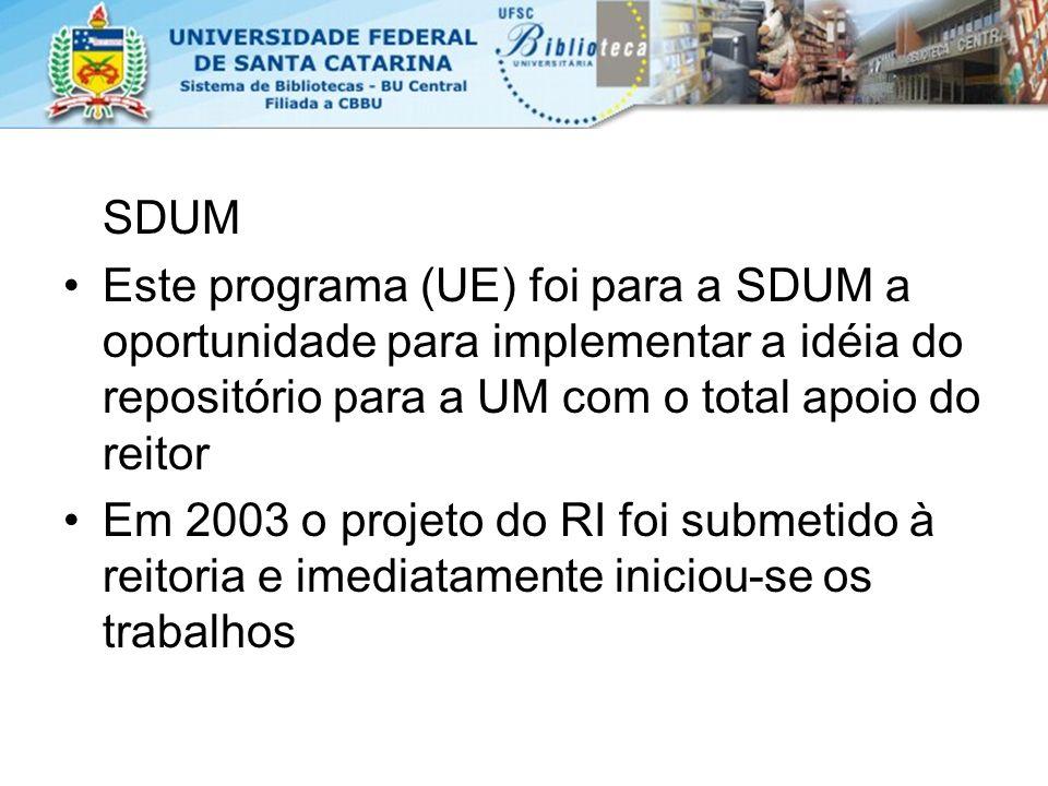 Resultados (continua) 50% dos downloads – Portugal 25% dos downloads – Brasil 25% demais países A política de auto-arquivamento e o incentivo financeiro foram as principais medidas que contribuíram para o sucesso do RepositóriUM