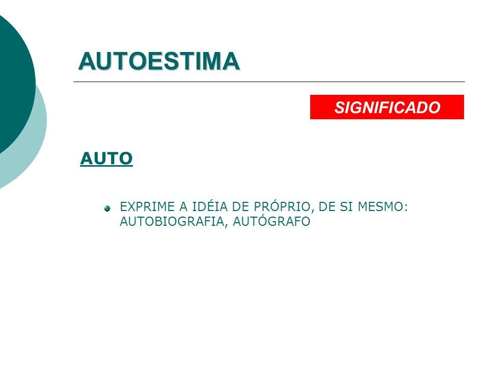 AUTOESTIMA AUTO EXPRIME A IDÉIA DE PRÓPRIO, DE SI MESMO: AUTOBIOGRAFIA, AUTÓGRAFO SIGNIFICADO