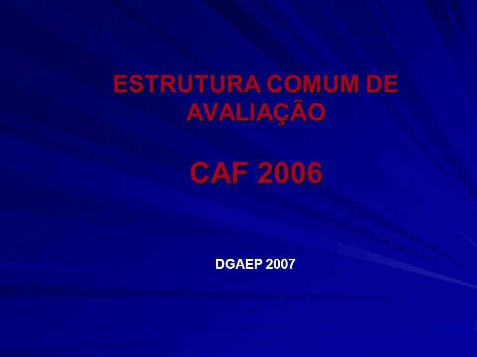 ESTRUTURA COMUM DE AVALIAÇÃO CAF 2006 DGAEP 2007