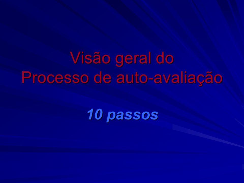 Visão geral do Processo de auto-avaliação 10 passos