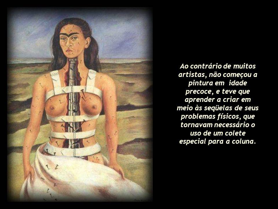 Filha de um fotógrafo judeu- alemão, Guilhermo Kahlo, e de Matilde Calderón y Gonzalez, uma mestiça mexicana, Frida Kahlo nasceu em 1907 no México. Ao