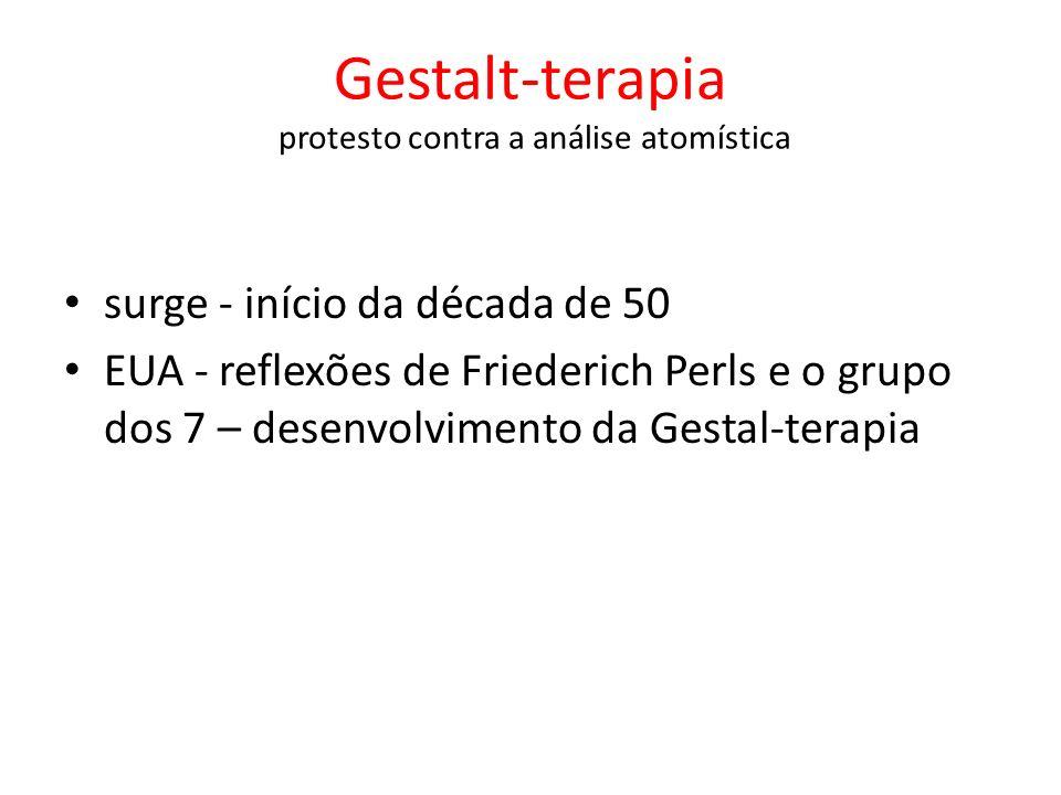 surge - início da década de 50 EUA - reflexões de Friederich Perls e o grupo dos 7 – desenvolvimento da Gestal-terapia