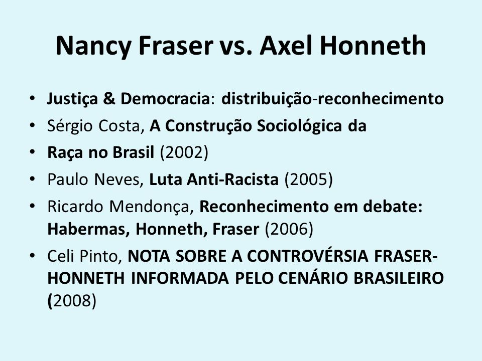 Nancy Fraser vs.