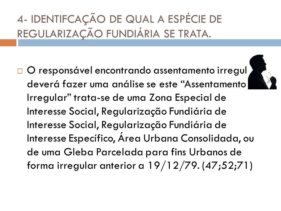 5- REGULARIZAÇÃO FUNDIÁRIA DE INTERESSE SOCIAL.- DA DEMARCAÇÃO URBANISTICA.