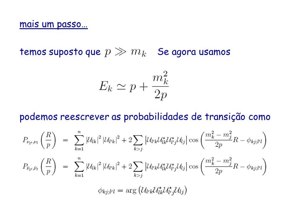 mais um passo… temos suposto queSe agora usamos podemos reescrever as probabilidades de transição como
