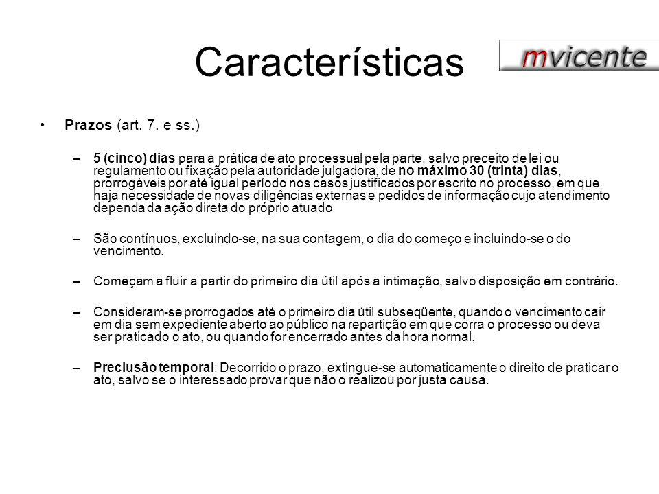Características Intimações (art.