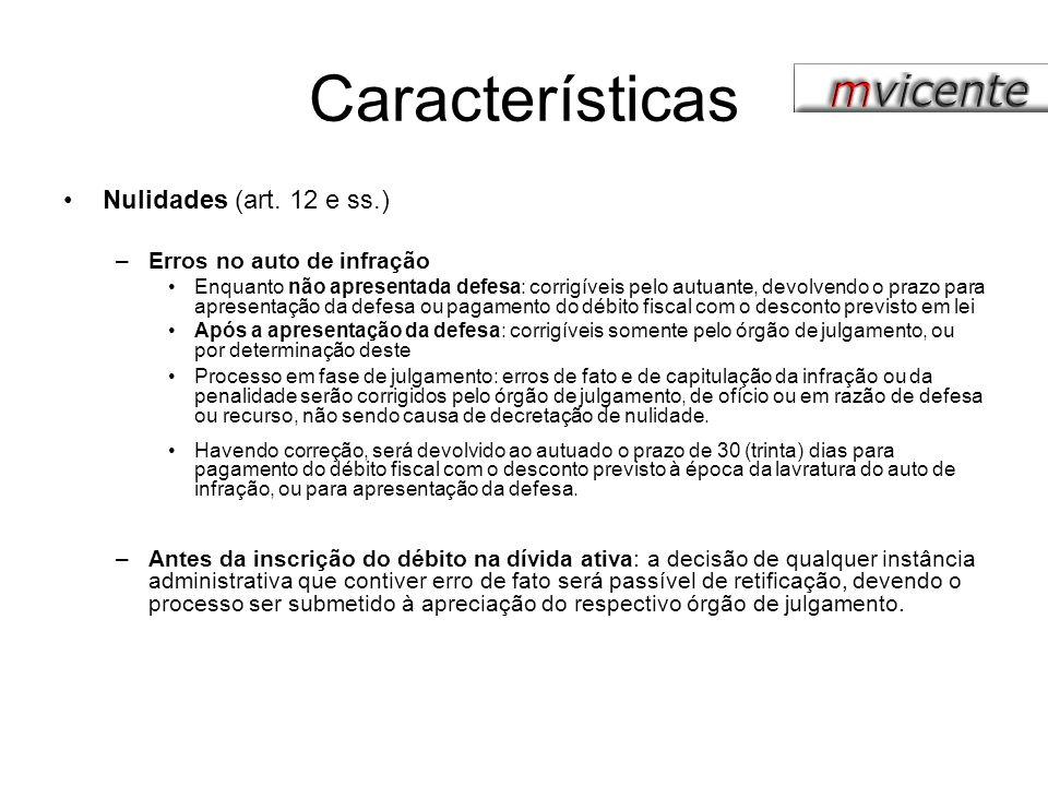 Características Provas (art.