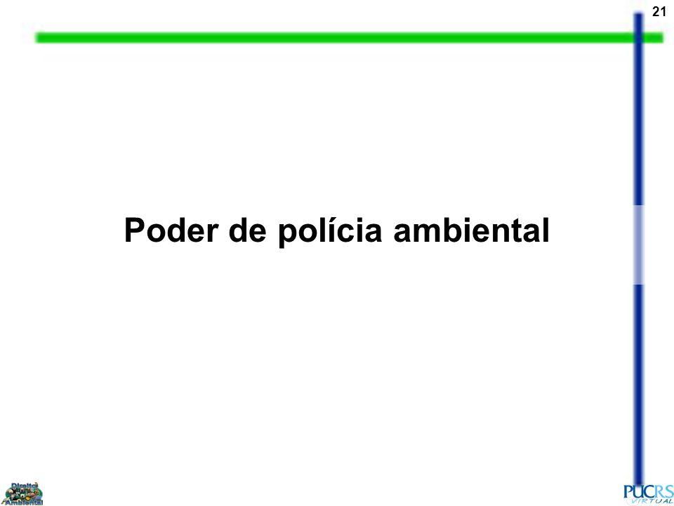 21 Poder de polícia ambiental