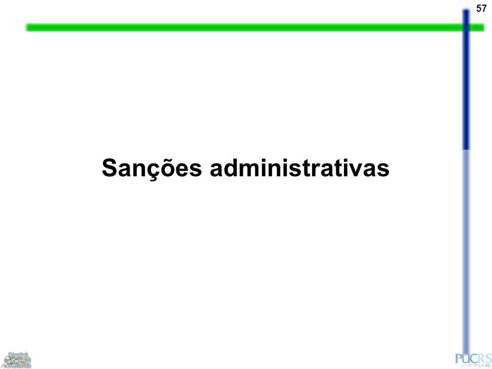 57 Sanções administrativas