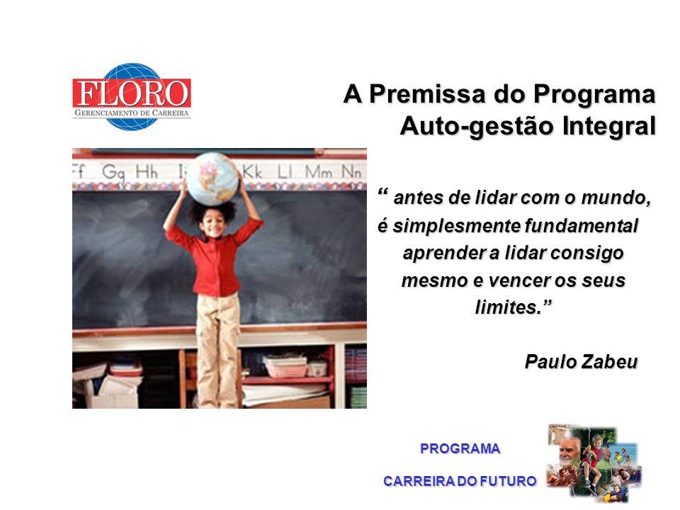 Esfera Social A Premissa do Programa Auto-gestão Integral A Premissa do Programa Auto-gestão Integral antes de lidar com o mundo, é simplesmente funda