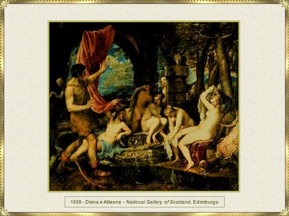 Durante o período de 1530 - 1550, como já se esboçava no seu Martírio de São Pedro, Ticiano devotou-se mais e mais a um estilo dramático. Durante os ú