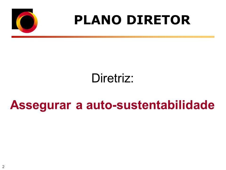 PLANO DIRETOR Assegurar a auto-sustentabilidade Diretriz: 2