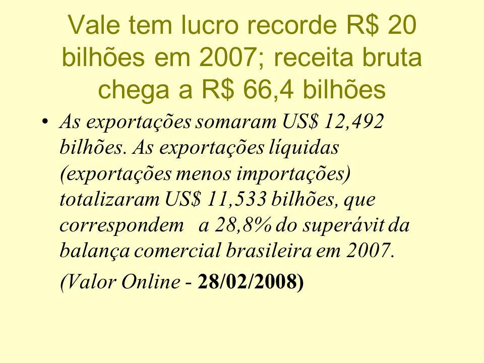 Vale do Rio Doce compra empresa canadense e se torna a 2ª maior mineradora do mundo: A Companhia Vale do Rio Doce concluiu a aquisição da mineradora c