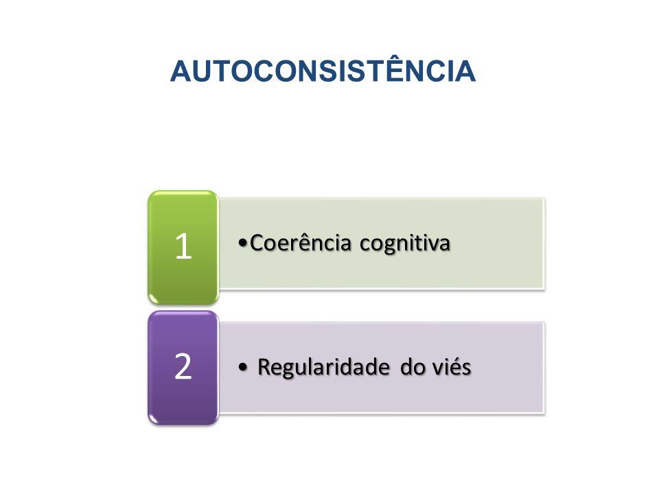 AUTOCONSISTÊNCIA Coerência cognitivaCoerência cognitiva 1 Regularidade do viésRegularidade do viés 2