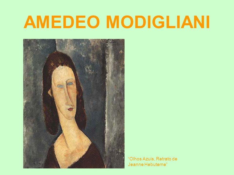 AMEDEO MODIGLIANI Olhos Azuis, Retrato de Jeanne Hebuterne