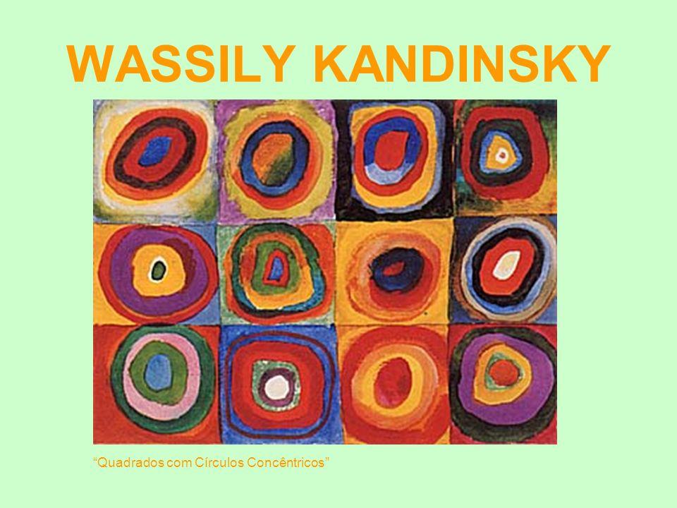 WASSILY KANDINSKY Quadrados com Círculos Concêntricos