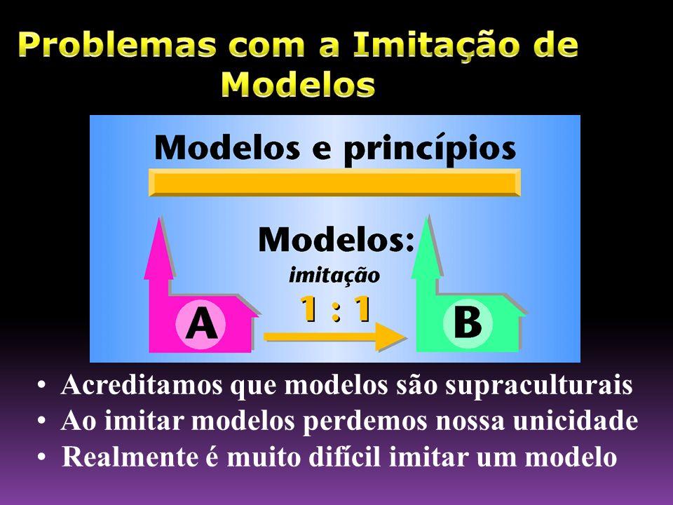 Acreditamos que modelos são supraculturais Ao imitar modelos perdemos nossa unicidade Realmente é muito difícil imitar um modelo