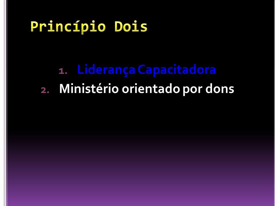 1. Liderança Capacitadora 2. Ministério orientado por dons