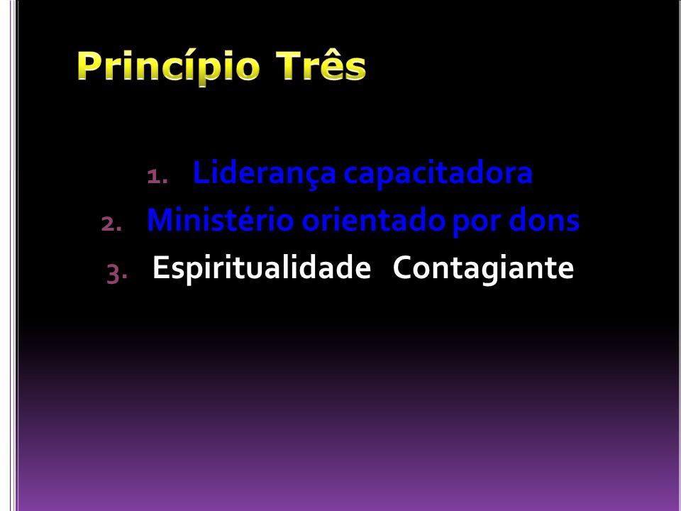 1. Liderança capacitadora 2. Ministério orientado por dons 3. Espiritualidade Contagiante