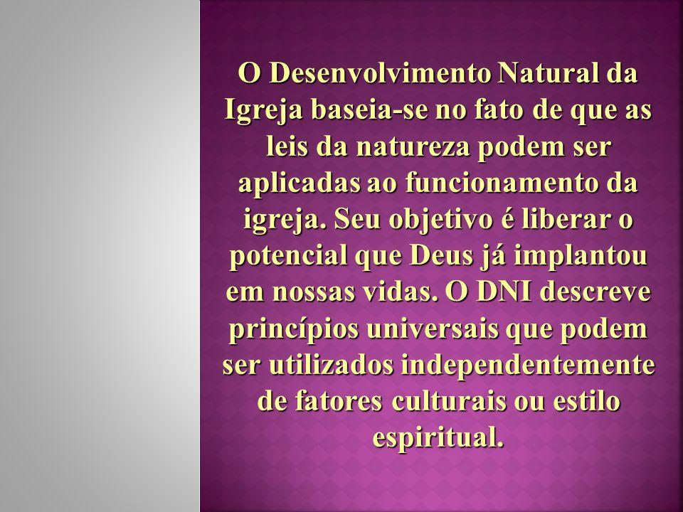 O Desenvolvimento Natural da Igreja baseia-se no fato de que as leis da natureza podem ser aplicadas ao funcionamento da igreja. Seu objetivo é libera