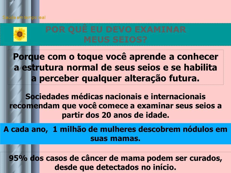 Saúde em tempo real COMO SÃO OS SEIOS? Localização do Câncer de Mama nos Quatro Quadrantes Sob o mamilo 17% Dividindo o seio em quatro partes, observa