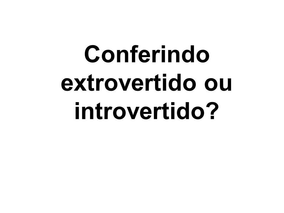 Conferindo extrovertido ou introvertido?