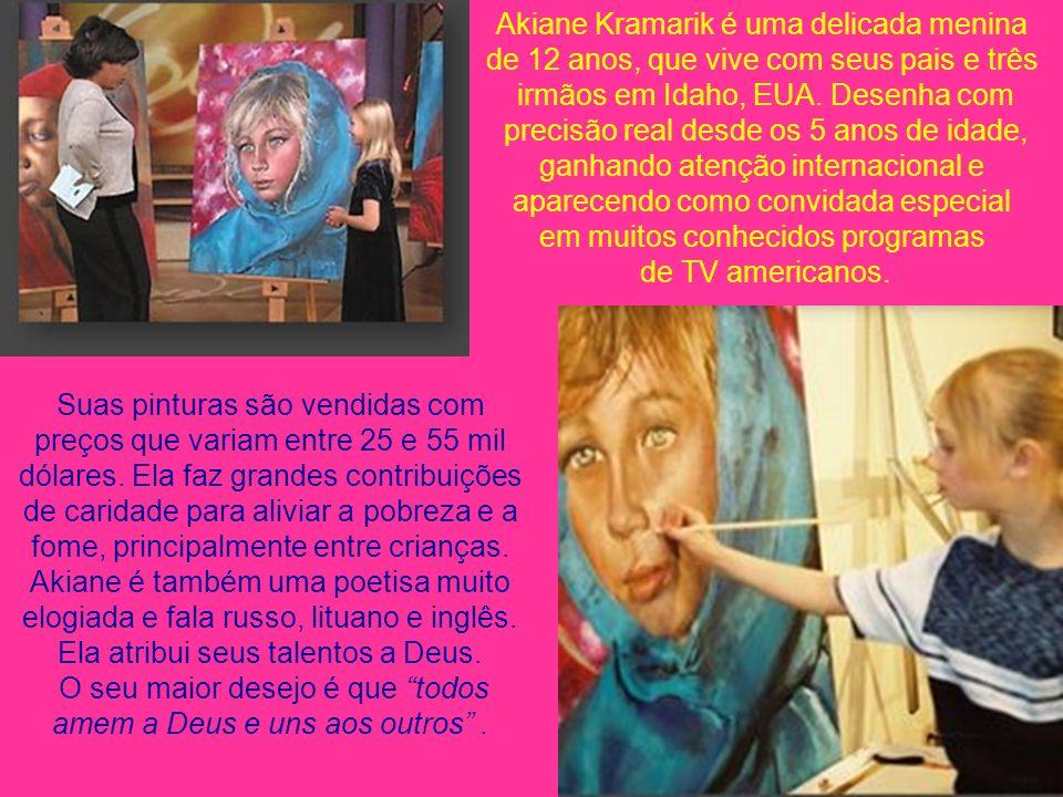 Auto-retrato aos 4 anos Akiane Kramarik A menina prodígio www.veralucia.art.br