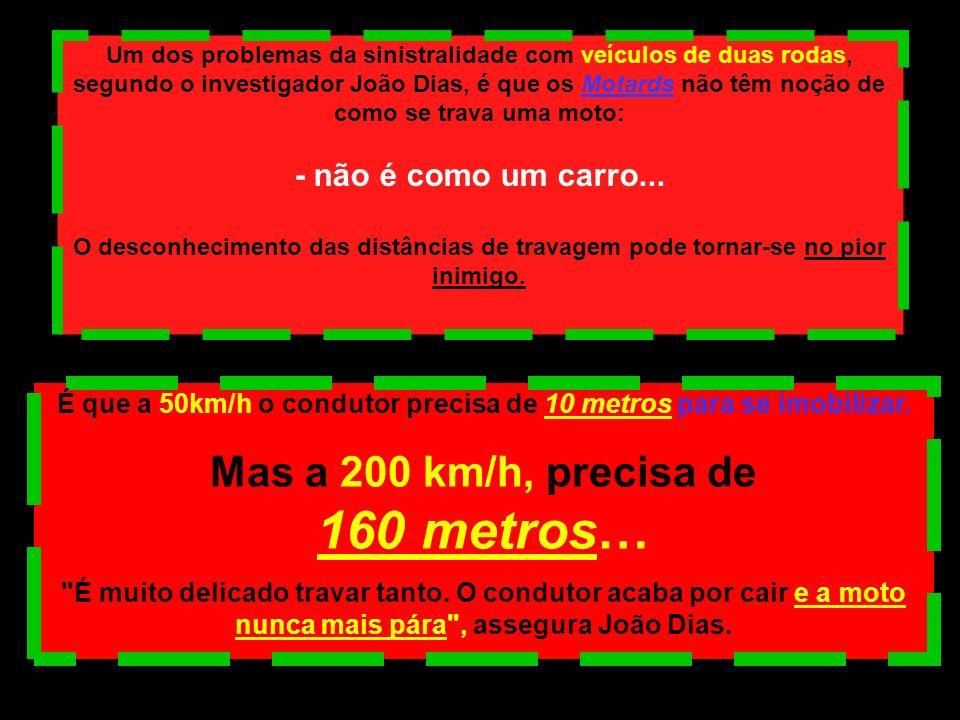 É que a 50km/h o condutor precisa de 10 metros para se imobilizar.