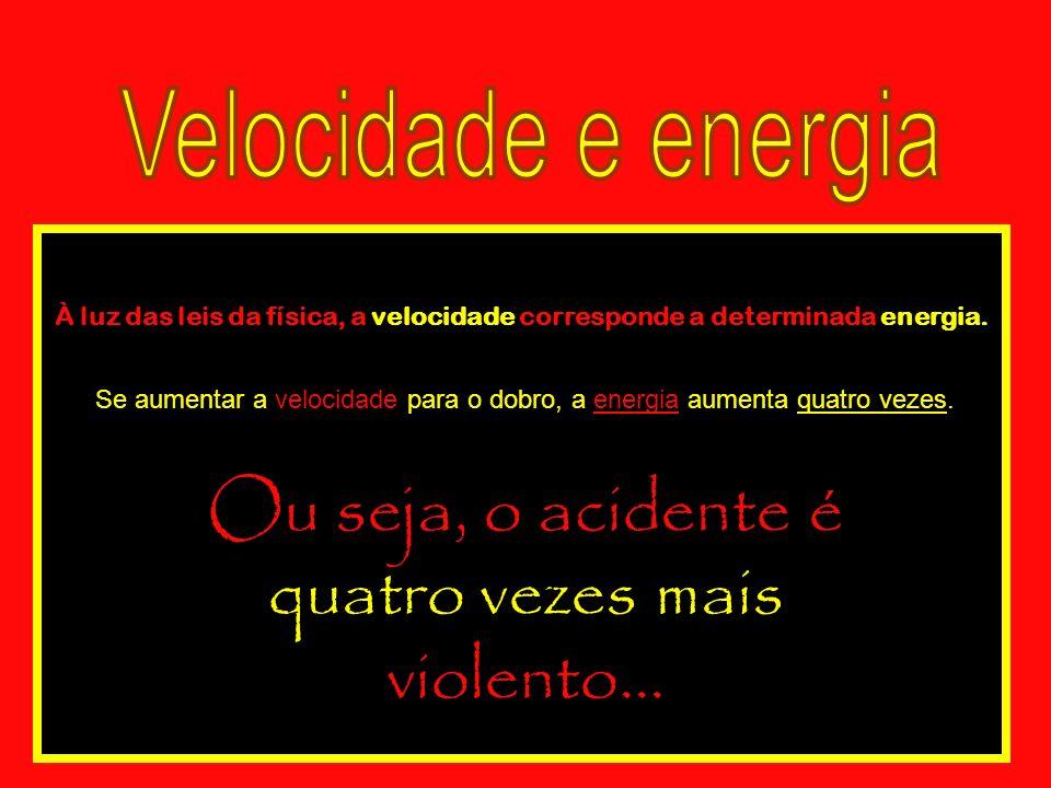 Para não haver impacto, a energia tem de ser dissipada por atrito, isto é, na travagem.