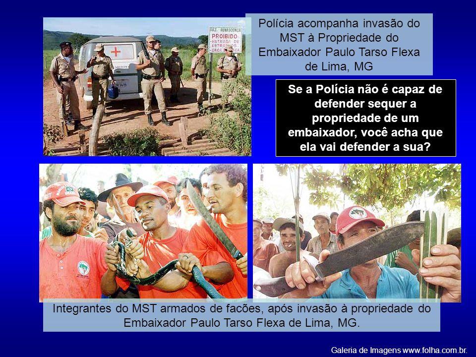 Se a Polícia não é capaz de defender sequer a propriedade de um embaixador, você acha que ela vai defender a sua? Galeria de Imagens www.folha.com.br.