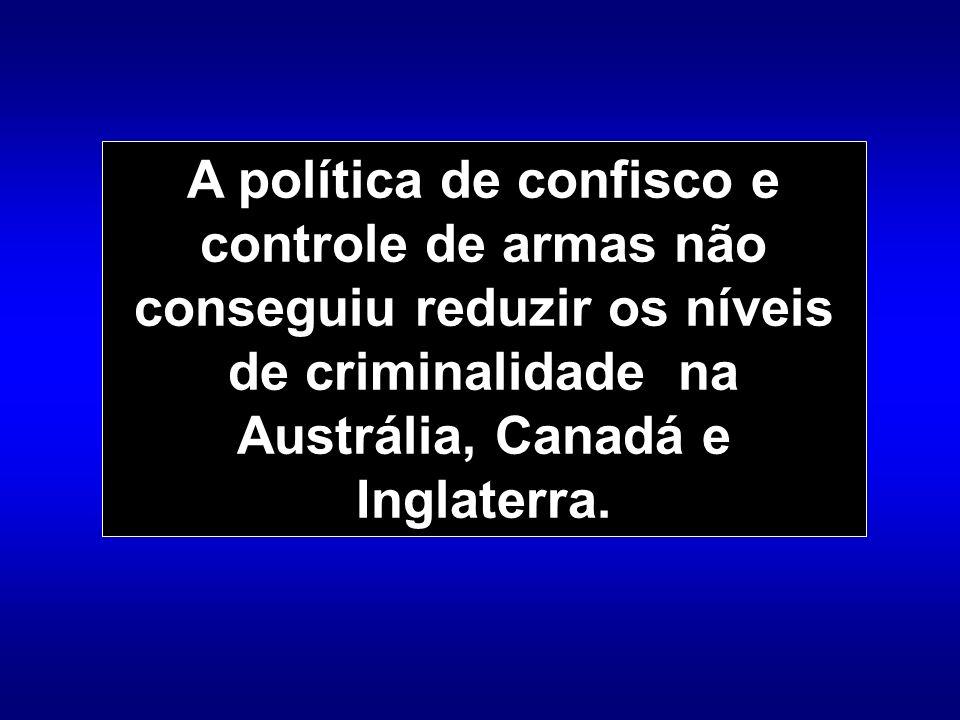 Inglaterra Em 1997, depois de mais de 20 anos de restrições crescentes ao porte e venda de armas, todo o comércio e porte foram considerados ilegais.