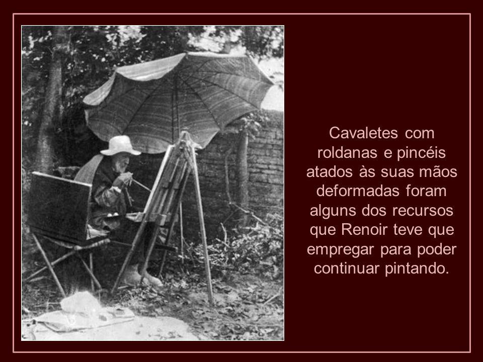 Poucos sabem que o grande pintor impressionista, Pierre-Auguste Renoir (1841- 1919), sofreu em seus últimos 25 anos de vida uma dolorosa e severa artr