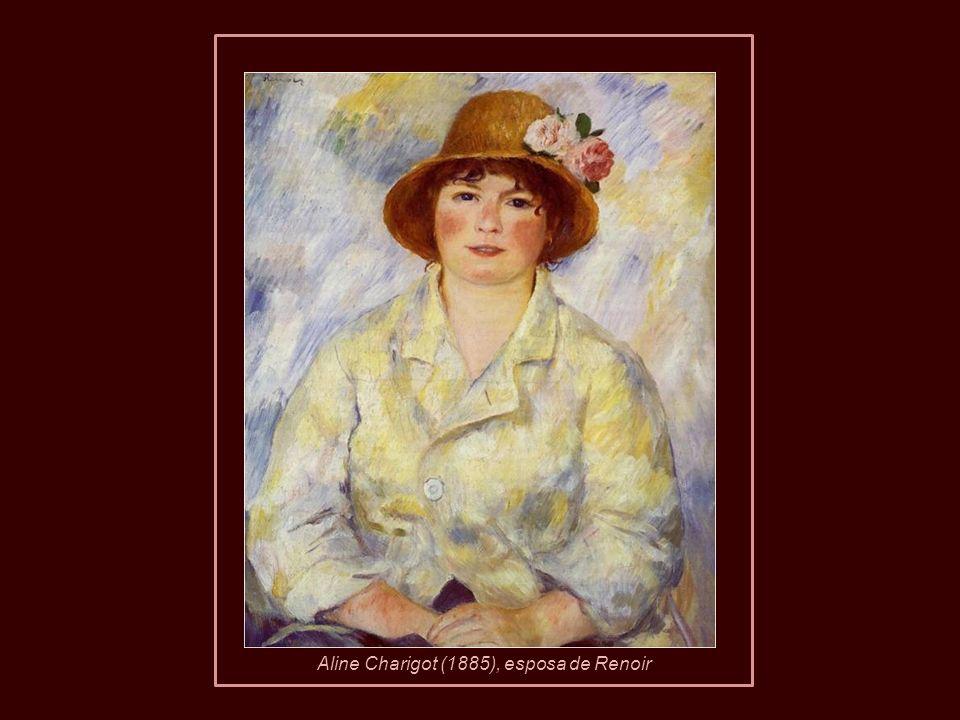 Em 1890, com a idade de 49 anos, Renoir se casou com Aline Charigot, de 26, com quem teve três filhos: Pierre, Jean e Claude (Coco). Pierre Renoir 189
