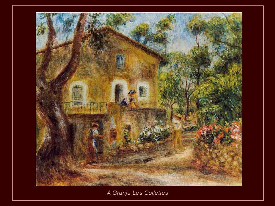Renoir acreditava que esses períodos lhe eram realmente benéficos. Por isso, quando já não podia mais locomover-se, mandou construir a casa de Les Col