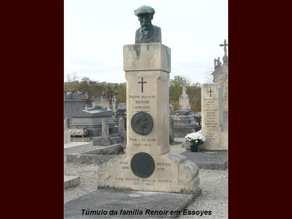 Pierre-Auguste Renoir morreu no dia 3 de dezembro de 1919, por causa de uma forte pneumonia, e foi enterrado em Essoyes, junto à sua esposa Aline Char