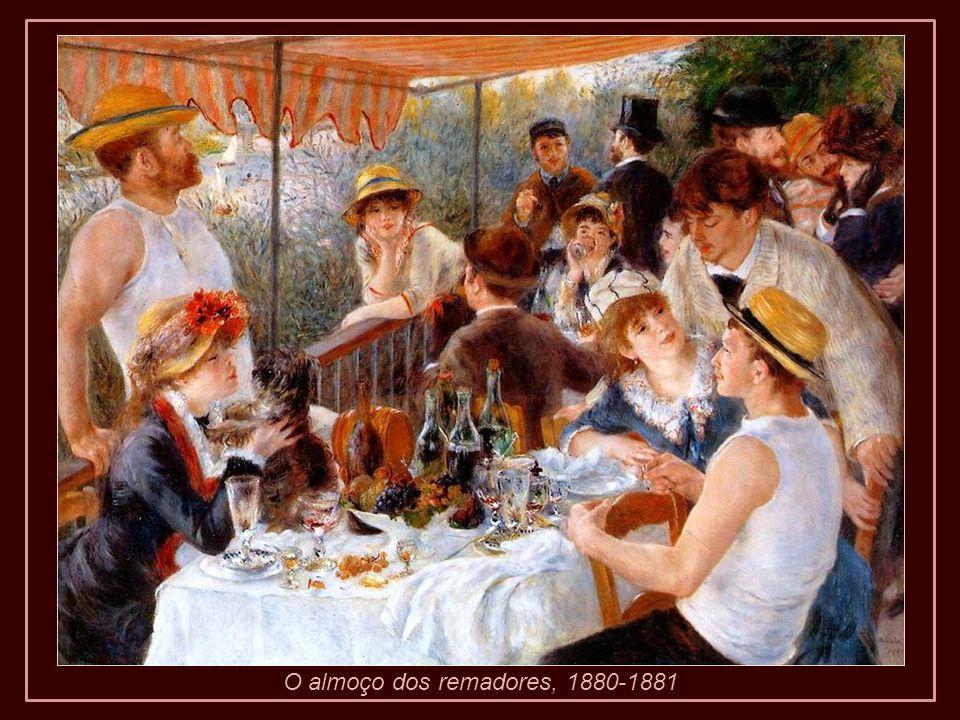 De volta a Cagnes continuou pintando até concluir sua composição Descanso após o banho .