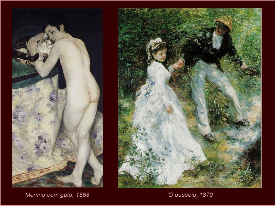 Auto retrato de Renoir. 1875