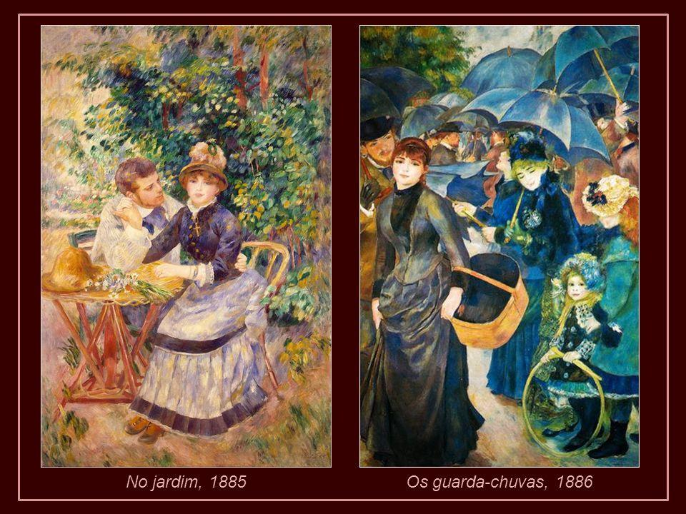 No jardim, 1885Os guarda-chuvas, 1886