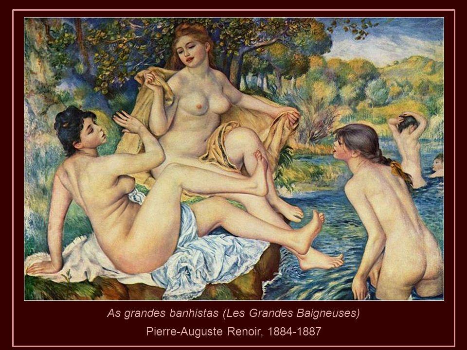 1915. Renoir com seus sapatos de lã devido à grave deformidade dos pés.