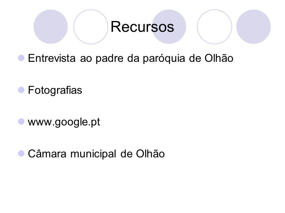 Recursos Entrevista ao padre da paróquia de Olhão Fotografias www.google.pt Câmara municipal de Olhão