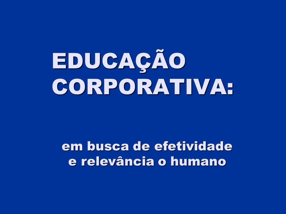 EDUCAÇÃO CORPORATIVA: em busca de efetividade e relevância o humano
