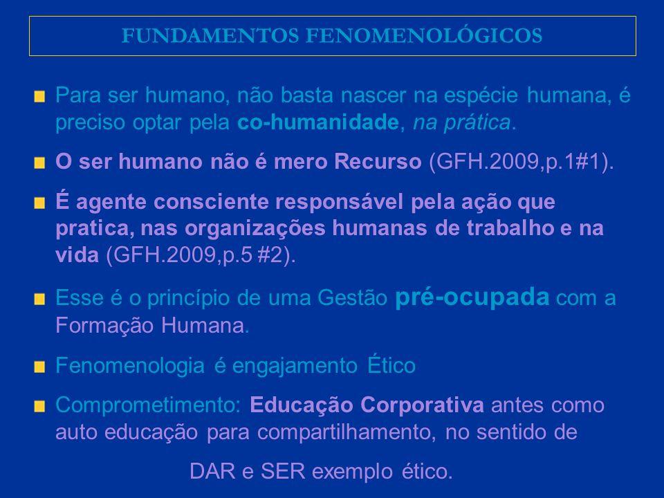 Para ser humano, não basta nascer na espécie humana, é preciso optar pela co-humanidade, na prática.