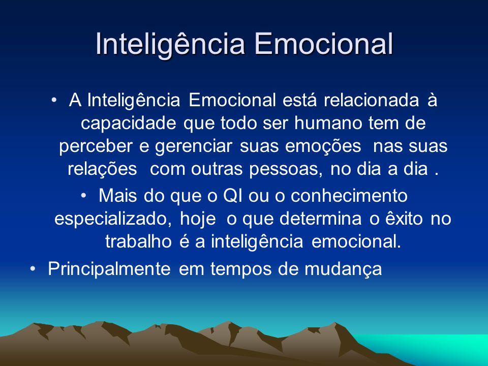 Inteligência Emocional A Inteligência Emocional está relacionada à capacidade que todo ser humano tem de perceber e gerenciar suas emoções nas suas re