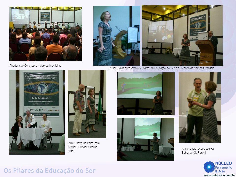 www.pnlnucleo.com.br Os Pilares da Educação do Ser Arline Davis no Palco com Michael Grinder e Bernd Isert Abertura do Congresso – danças brasileiras