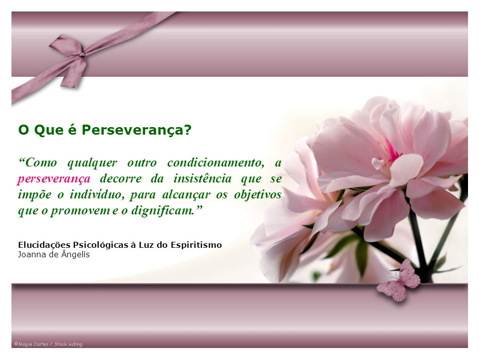 O Que é Perseverança? Como qualquer outro condicionamento, a perseverança decorre da insistência que se impõe o indivíduo, para alcançar os objetivos