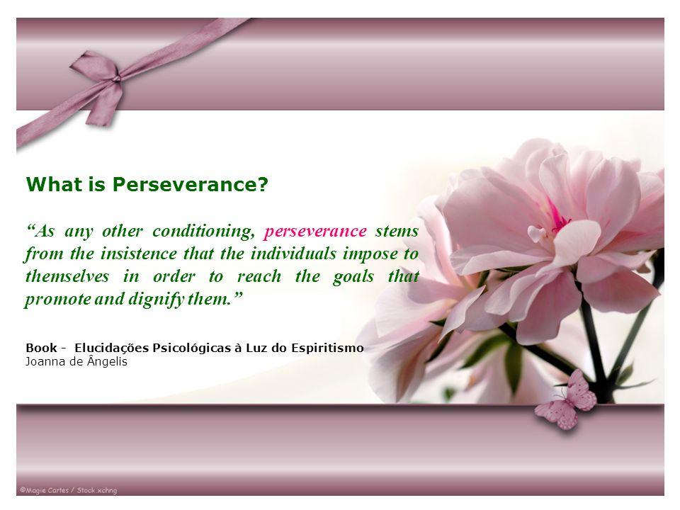 O Que é Perseverança.