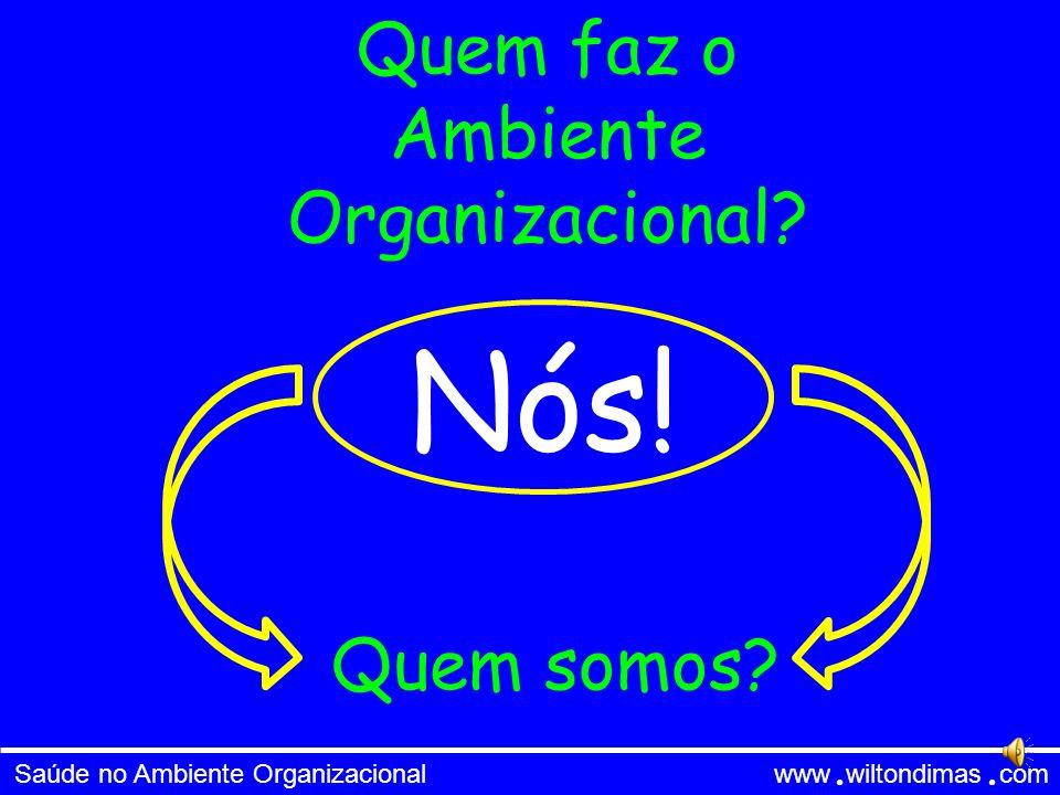 Saúde no Ambiente Organizacional www wiltondimas com Saúde no Ambiente Organizacional